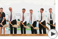 groundbreaking new campus at best international school
